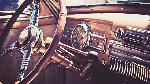 The inside of a vintage car