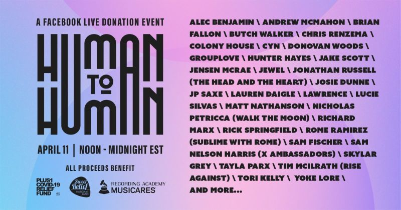 Human to Human Facebook Live Event Benefit